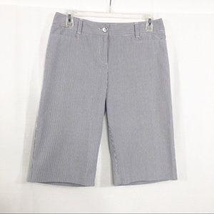 Alfani Pin Stripe Casual Bermuda Shorts, Size 6P